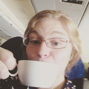 National Coffee day in the air.