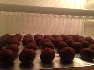 Cake balls chillin'