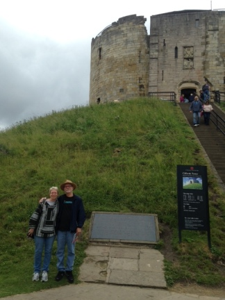In front of Clifford's Tower